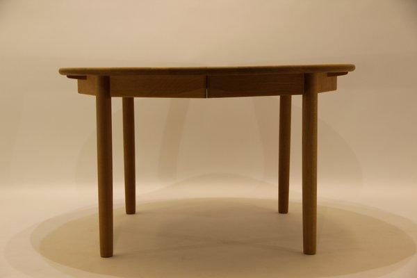 MidCentury Oak Dining Table By Kurt Østerig For KP Jørgensen For - Mid century oak dining table