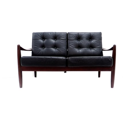 Danish Leather 2 Seater Sofa