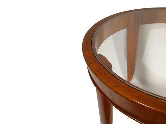 Tavolino da caffè in legno e vetro, Italia, anni \'40 in vendita su ...