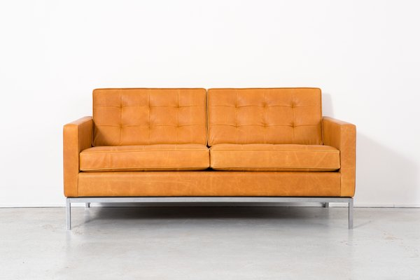 Leather Sofa By Florence Knoll Bassett For Knoll, 1970s 1