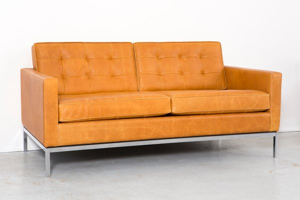 Leather Sofa by Florence Knoll Bassett for Knoll, 1970s The Exceptional
