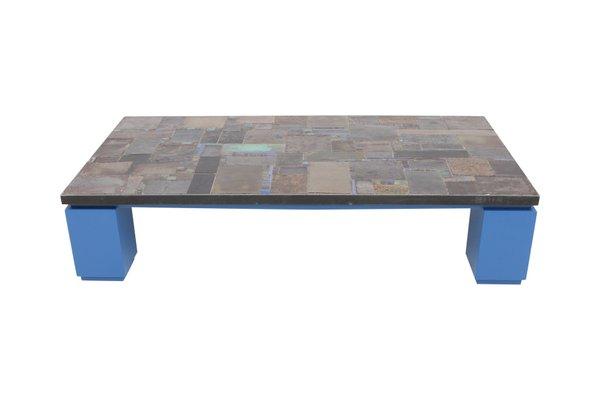 Tavolino da caffè con mattonelle in ceramica di pia manu in