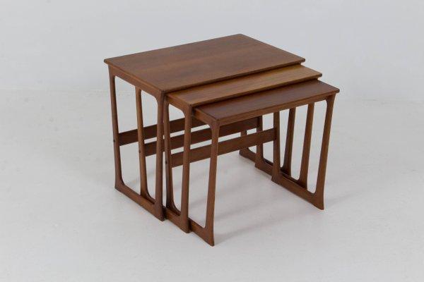 Mid Century Danish Modern Nesting Tables By Johannes Andersen, 1960s 1
