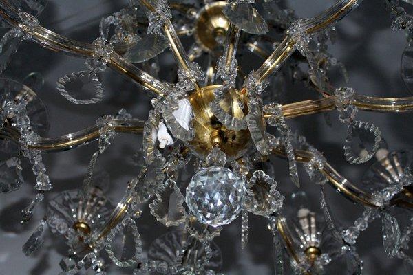 Antike Kronleuchter Belgien ~ Großer antiker wiener kristallglas kronleuchter von lobmeyr bei
