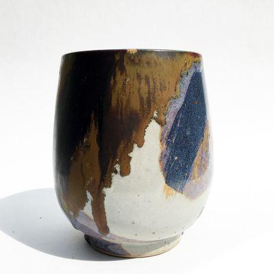 Vintage Cup Shaped Vase By Renate U0026 Hans Heckmann 1