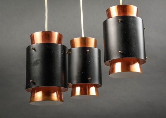 Kupfer Deckenlampe dänische mid-century kupfer deckenlampe von jo hammerborg für fog