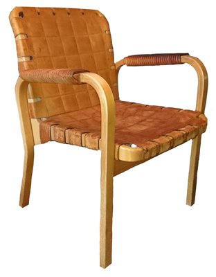 45 Leather Chair By Alvar Aalto, 1960s 1
