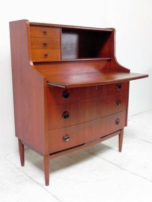 Vintage Danish Teak Secretary For Sale At Pamono
