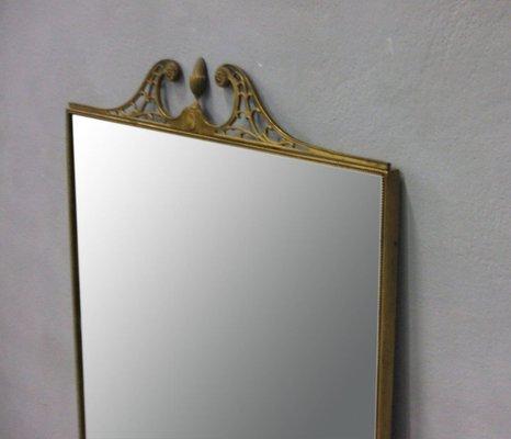 Specchio Da Parete Grande Con Cornice.Specchio Da Parete Grande Con Cornice In Ottone Italia Anni 50