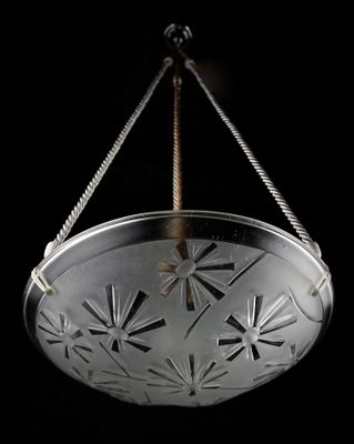 Modernist french art deco chandelier by david gueron for degu modernist french art deco chandelier by david gueron for degu 1930s 3 aloadofball Choice Image