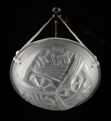 French Art Deco Chandelier By David Gueron For Degué, 1920s