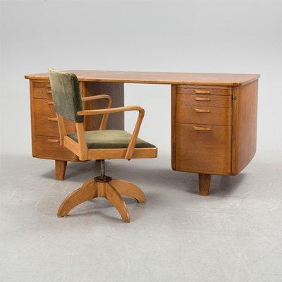 Set Bureau Et Chaise Pivotante Art Dco Sude 1930s 1