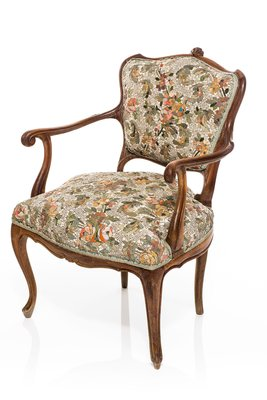 Superbe Antique Armchair With Floral Pattern Mosaic By Yukiko Nagai, 2013 1
