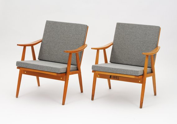 Vintage Easy Chairs from TON, Set of 2 1 - Vintage Easy Chairs From TON, Set Of 2 For Sale At Pamono