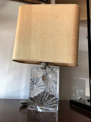 Daum Crystal Table Lamp French, 1970s