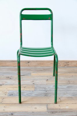vintage green metal bistro chair for sale at pamono