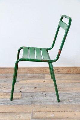 Vintage Green Metal Bistro Chair 2