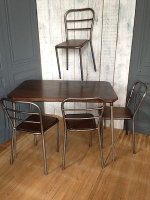 Industrial Dining Set, 1950s