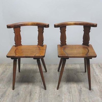Sedie antiche in legno, set di 2 in vendita su Pamono