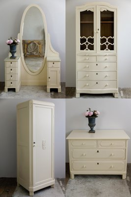 Dressing Table Display Case Wardrobe Chest Of Drawers 1860s 1