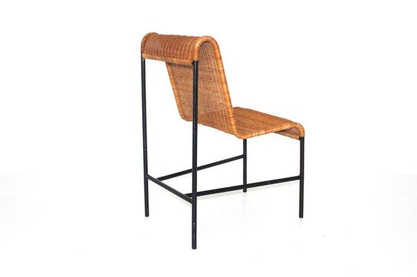 Astonishing Mid Century Modern Rattan Chair By Harold Cohen And Davis Pratt 1953 Machost Co Dining Chair Design Ideas Machostcouk