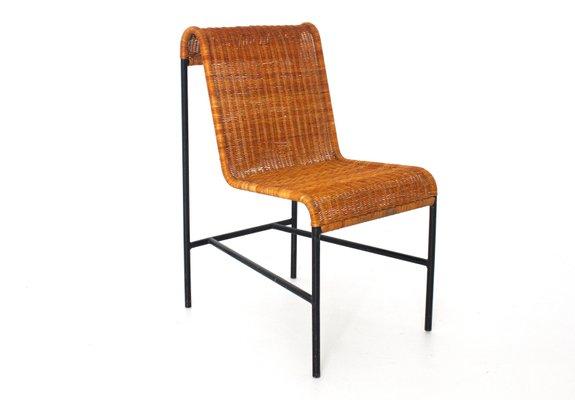 Mid Century Modern Rattan Chair By Harold Cohen And Davis Pratt 1953 2