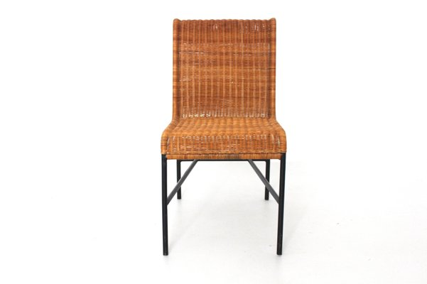 Fine Mid Century Modern Rattan Chair By Harold Cohen And Davis Pratt 1953 Machost Co Dining Chair Design Ideas Machostcouk
