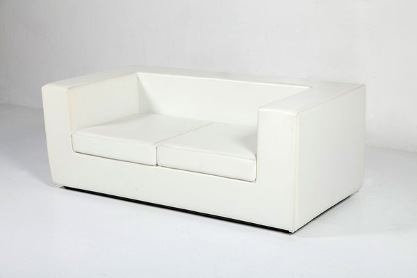 White Two Seater Sofa By Willie Landels