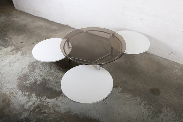 Vintage Coffee Table With Rotatable Tops 3