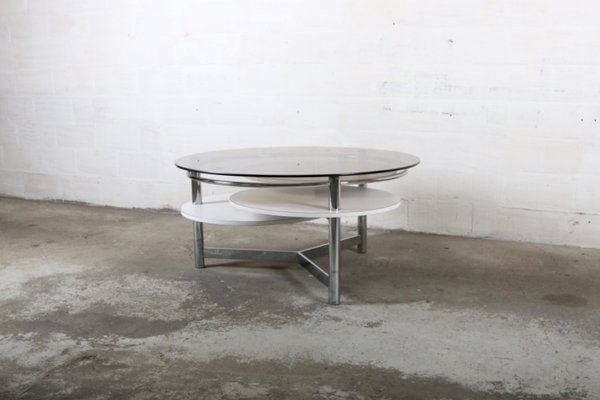 Vintage Coffee Table With Rotatable Tops 2