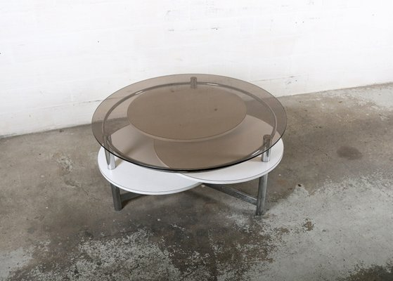 Vintage Coffee Table With Rotatable Tops 8