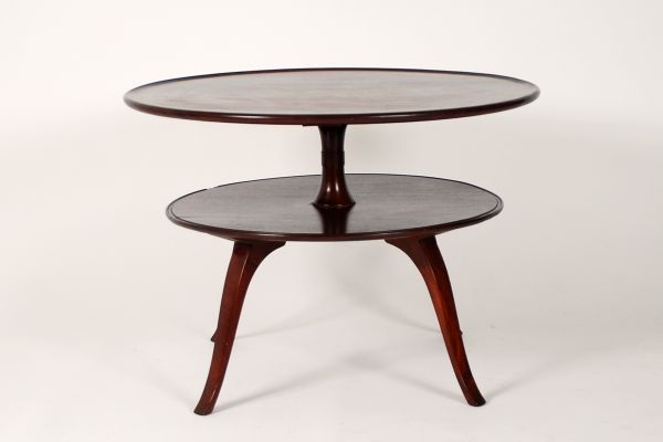 Circular TwoTier Coffee Table From Fritz Henningsen For Sale - Two level coffee table