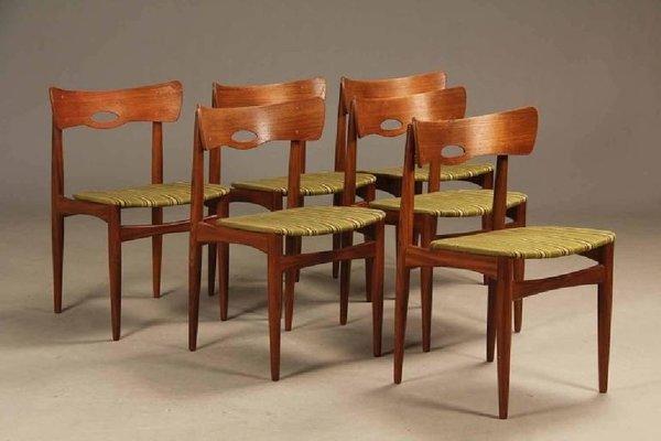 Dänische Vintage Teak Stühle Von Bramin 1960er 6er Set Bei Pamono