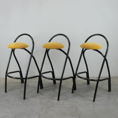 Phenomenal Italian Vintage Iron Bar Stools Set Of 3 Gamerscity Chair Design For Home Gamerscityorg