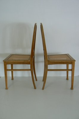 German Antique Oak Dining Chairs Set Of 2
