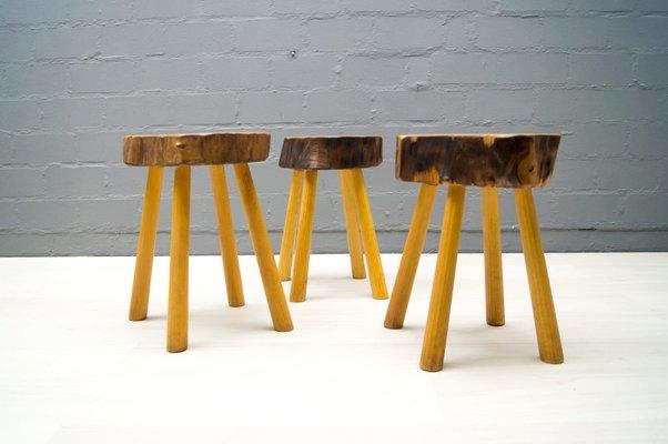 Sgabelli vintage in legno francia anni set di in