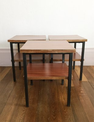 Delicieux Formica Side Tables, 1960s, Set Of 3 2