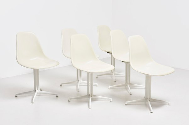vintage dsw side chairs with la fonda bases by charles ray eames