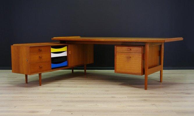 Vintage Teak Desk With Sideboard By Arne Vodder For Sibast 1