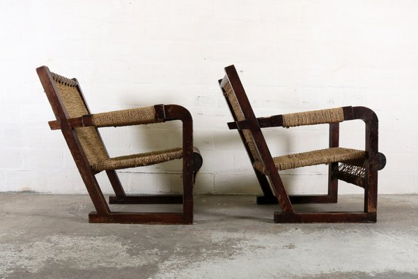 Art deco lounge chairs by francis jourdain set of for sale at