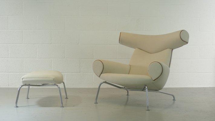 Ox Chair U0026 Footstool By Hans Wegner For Erik Jorgensen, ...