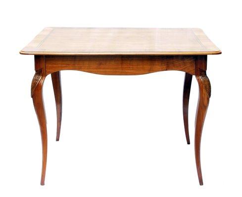 Art Nouveau Cherry Wood Side Table 1