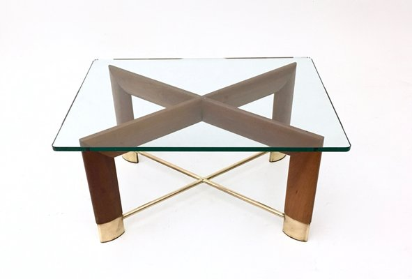 Table Basse En Noyeramp; VerreItalie1970s Basse En Table Noyeramp; Ybf7gv6ymI