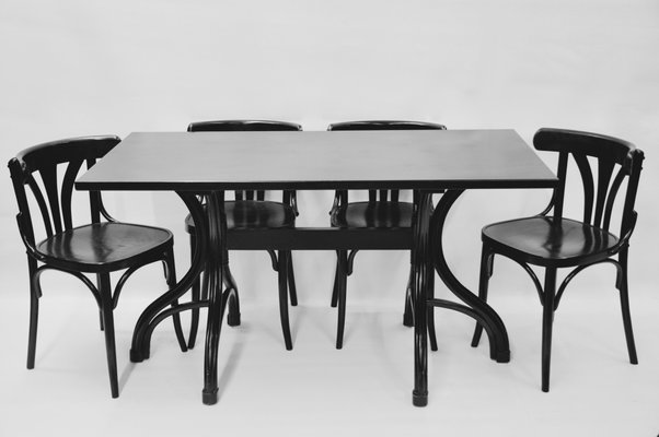 Bentwood Table From Thonet, 1980s 1