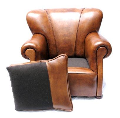 Vente Fauteuil Club fauteuil club art déco en cuir, pays-bas en vente sur pamono