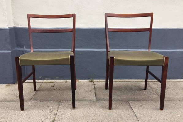 Mid Century Danish Rosewood Side Chairs By Bernhard Pedersen U0026 Son, ...