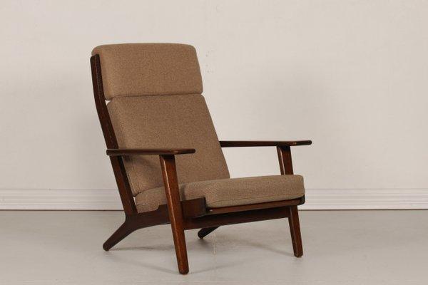Wegner Sessel ge 290 high-back eiche sessel von hans j. wegner für getama, 1970er