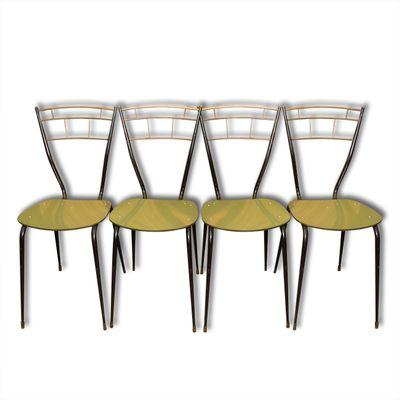 Italian Mid Century Dining Chairs With Laminate Seats Set Of 4 1