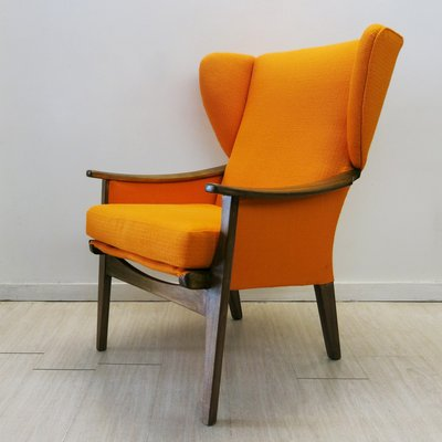 Superieur Vintage Orange Armchair From Parker Knoll, 1960s 1