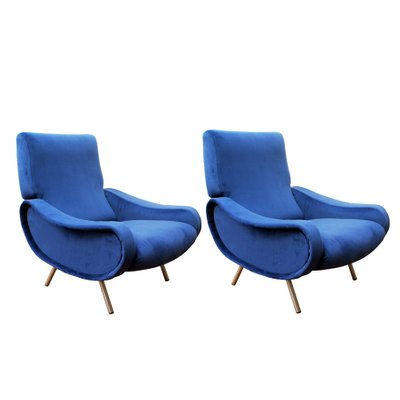 Brilliant Mid Century Royal Blue Lady Easy Chairs By Marco Zanuso For Arflex Set Of 2 Pdpeps Interior Chair Design Pdpepsorg